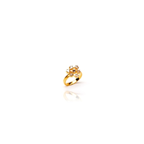 Flower Child Ring in Labradorite- Size 8