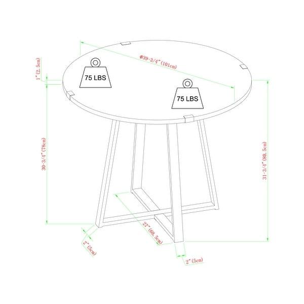 Carbon Loft Kenyon Round Metal Wrap Dining Table