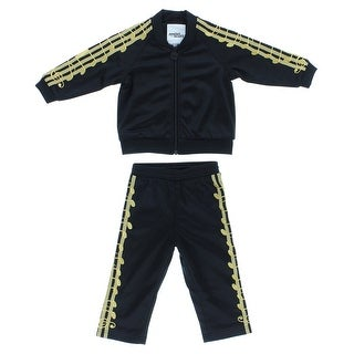 Adidas Baby Boys Jeremy Scott Music Note Track Suit Black - Black/gold