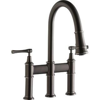Elkay LKEC2037 Explore Pullout Spray Double Handle Bridge Kitchen Faucet