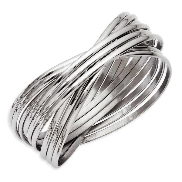 Chisel Stainless Steel Multiple Bangles Bracelet