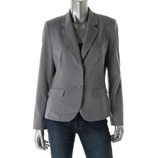 Nine West Womens Woven Long Sleeves Two-Button Suit Jacket - 16
