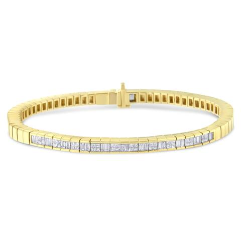 14K Yellow Gold 1 1/7 ct TDW Diamond Tennis Bracelet (G-H,VS1-VS2)