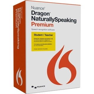 Nuance K609A-F02-13.0 Nuance Dragon NaturallySpeaking v.13.0 Premium Student/Teacher - 1 User - Voice Recognition - Academic,