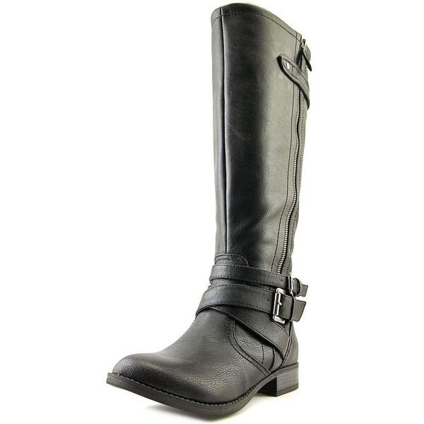 Indigo Rd. Cherish Wide Calf Women Round Toe Synthetic Black Knee High Boot