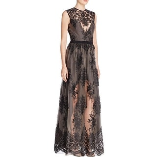 ABS Collection Womens Evening Dress Lace Cut-Out Back