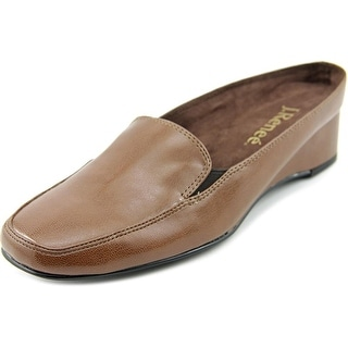 J. Renee Edlyn Women WW Square Toe Synthetic Brown Loafer