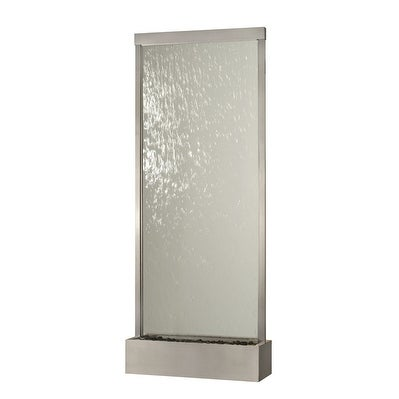 8' Waterfall Grande by Bluworld Stainless Steel Frame w Clear Glass