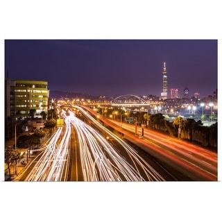 """Taipei light trails at night."" Poster Print"