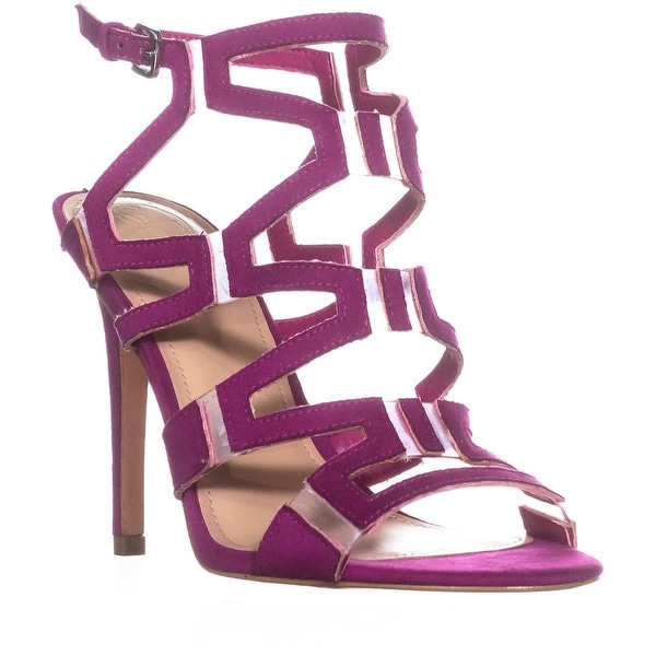 Guess Padton4 Heeled Sandals, Pink Multi