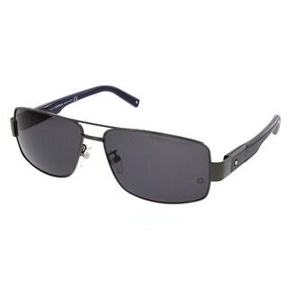 Montblanc MB 460/T 08A Ruthenium Rectangular Sunglasses