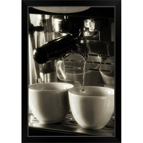 """""""The art of fresh coffee making, pouring and filtering fresh coffee"""" Black Framed Print"""