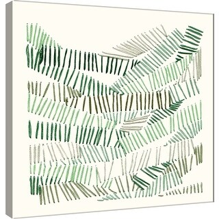 """PTM Images 9-101197  PTM Canvas Collection 12"""" x 12"""" - """"Thread Abstract 3"""" Giclee Abstract Art Print on Canvas"""