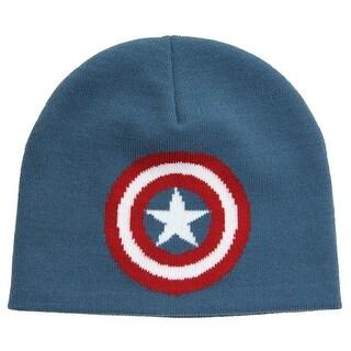 Captain America Knit Beanie - Blue