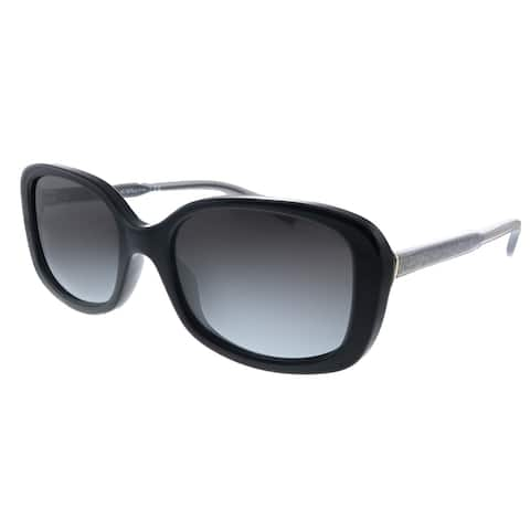 Coach L1114 HC 8278 50028G Womens Black Frame Grey Gradient Lens Sunglasses