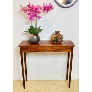Porch & Den Holly Hill Solid Acacia 1-drawer Console Table