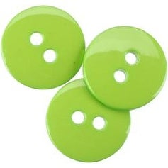 "Lime Green 5/8"" - Small Color Buttons 20/Pkg"