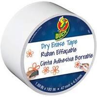 """White - Dry Erase Duck Tape 1.88""""X15yd"""