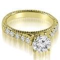 2.00 cttw. 14K Yellow Gold Vintage Cathedral Round Cut Diamond Bridal Set - Thumbnail 1