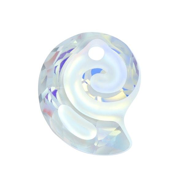 Swarovski Elements Crystal, 6731 Sea Snail Pendant 14mm, 1 Piece, Crystal AB