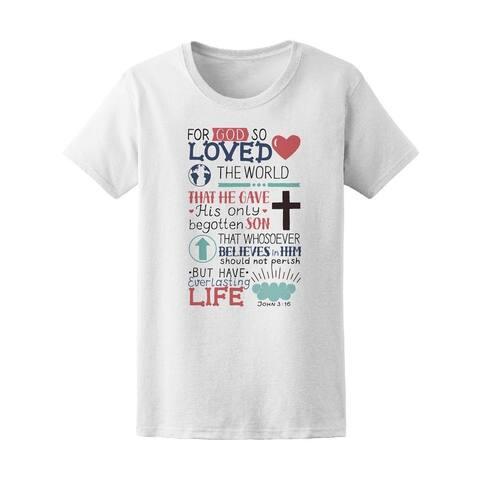 Bible Verse John 3:16 Tee Women's -Image by Shutterstock