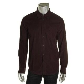 Private Label Mens Cotton Corduroy Button-Down Shirt