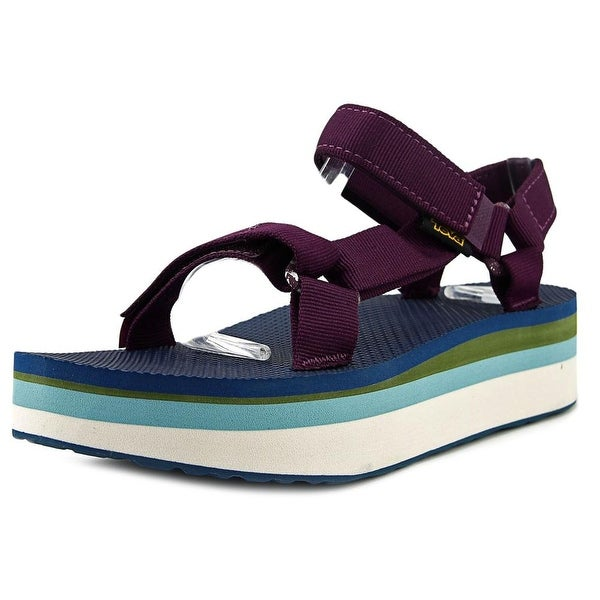 Teva Flatform Universal Retro Women Open-Toe Canvas Sport Sandal