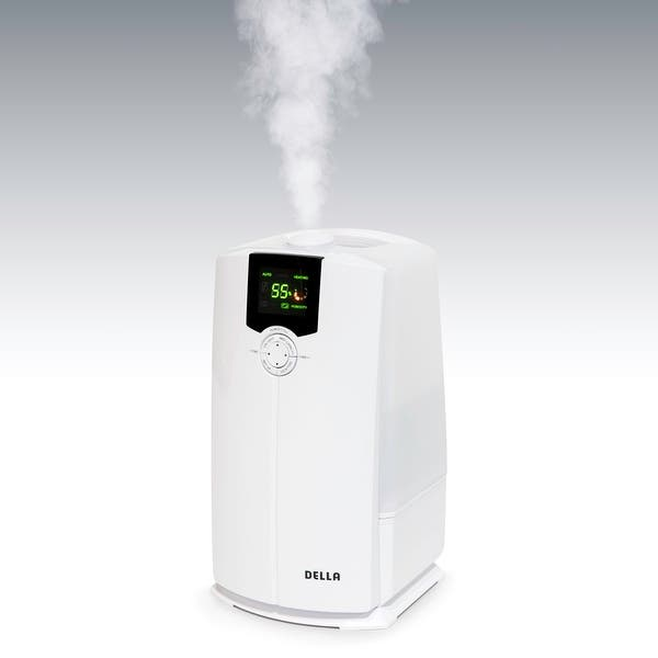Shop Della Portable Ultrasonic Humidifiers Warm Cool Mist 4l For Bedroom With Led Display Overstock 16994474