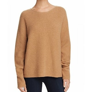 Theory NEW Brown Womens Size Small S Twist-Back Scoop Neck Sweater