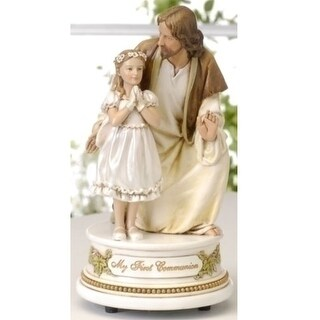 """Pack of 2 Joseph's Studio Jesus with Girl Musical First Communion Figures 7.25"""""""