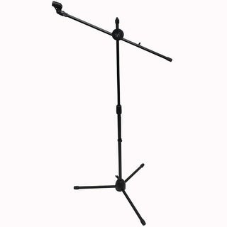 Seismic Audio - Dual Tripod Microphone Stand with 5 Mic Clips