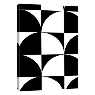 "PTM Images 9-105683  PTM Canvas Collection 10"" x 8"" - ""Monochrome Patterns 9"" Giclee Abstract Art Print on Canvas"
