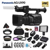 Panasonic AG-UX90 4K/HD Professional Camcorder (Intl Model) Studio Starter Bundle