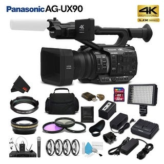 Panasonic AG-UX90 4K/HD Professional Camcorder (Intl Model) Studio Starter Bundle