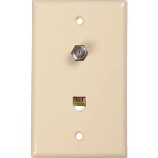 RCA Phone/Coax Wall Plate