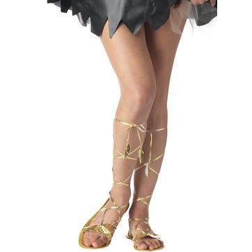 Adult Gold Goddess Sandals for Halloween Costume