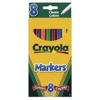 Crayola Original Marker Set, Fine Tip, Assorted Classic Colors, Set of 8