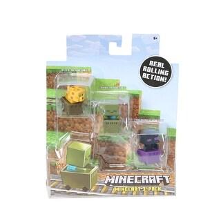 Minecraft Zombie Pigman, Diamond Steve, Mooshroom Figure Set