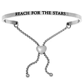 "Intuitions ""Reach for the Stars"" Stainless Steel Adjustable Bolo Friendship Bracelet"