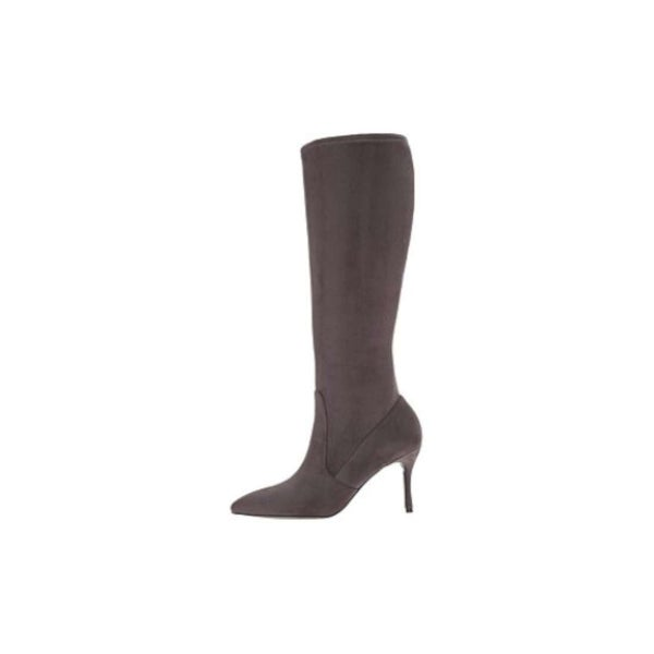 Nine West Womens Calla Fabric Pointed Toe Knee High Fashion Boots