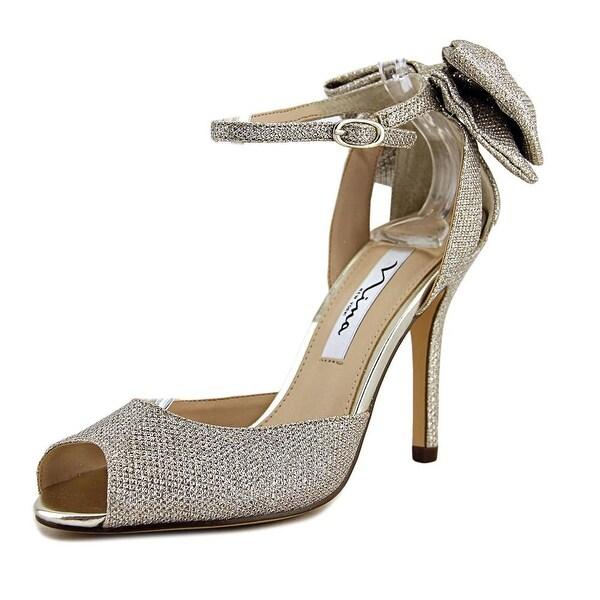 Nina MARTINA Women Soft Silver Sandals