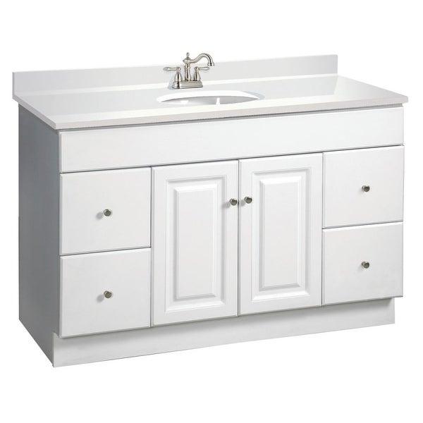 Design House 531145 Wyndham 48  Wood Vanity Cabinet Only - White  sc 1 st  Overstock.com & Shop Design House 531145 Wyndham 48