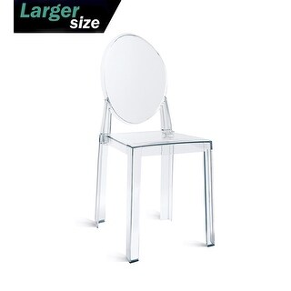 2xhome - LARGE - Clear Victorian Ghost Style Armless Side Chair