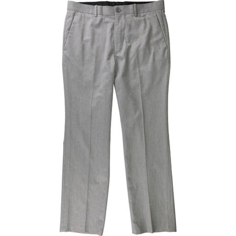 Alfani Mens Textured Dress Pants Slacks, Grey, 32W x 30L - 32W x 30L