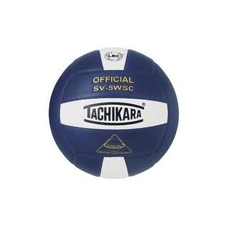 Tachikara SV-5WSC NFHS Composite Leather Volleyball White/Navy