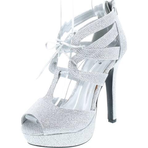 Qupid Women's Gaze-450 Platform Dress Sandal