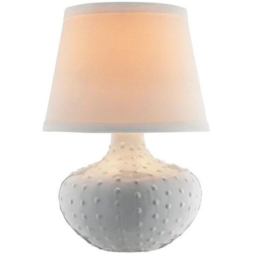 Living Accents 18411-002 Ceramic Accent Lamp, White