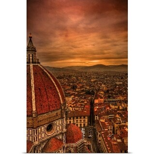 Poster Print entitled The Piazza del Duomo, Florence, Italy.