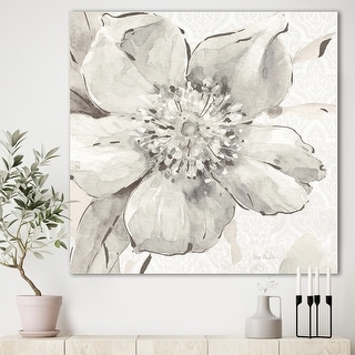 Link to Silver Orchid 'Indigold Grey Peonies III' Farmhouse Canvas Artwork Print Similar Items in Art Prints