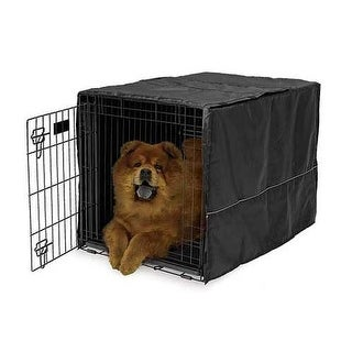 "Midwest Quiet Time Pet Crate Cover Black 36"" x 23.5"" x 24"""